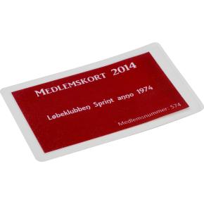 Lamineringslomme, 54x85 mm, 125 mic