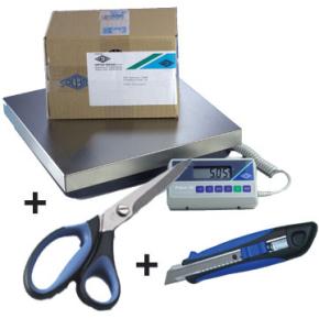 Wedo pakkevægt 50 kg + gratis kniv og saks