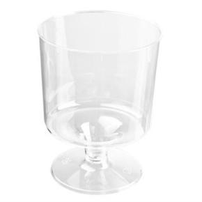 Plastglas på fod, 17cl