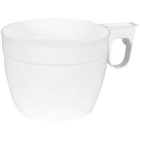 Kaffekop med hank 15 cl, hvid