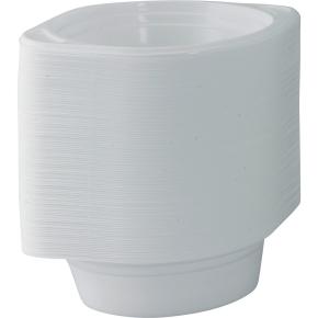 Plasttallerken suppe / dyb tallerken 500 ml