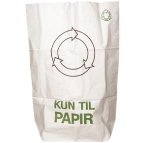 Papirsæk 110 liter, 70 x 95, hvid