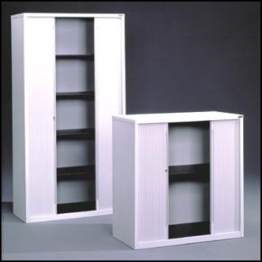 Arkivskab med 2-delt jalousi 198x100x47,5 cm, grå