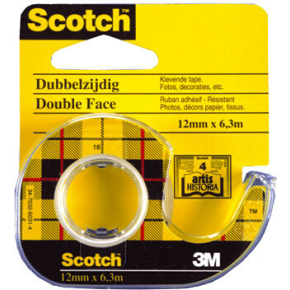 Scotch tape, dobbeltklæbende 12mm x 6,3m