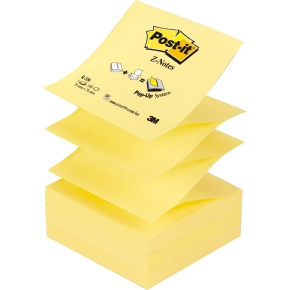 Post-it Z-Notes 76 x 76 mm, gul