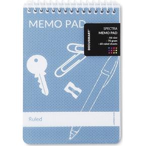Notesblok A6, linjeret, 60 blade, sort