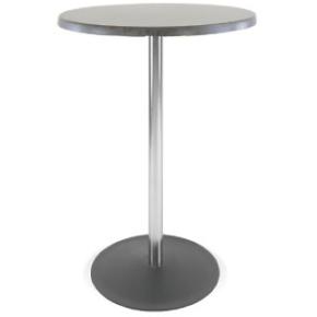 Riviera cafébord H73,5 x Ø80 cm, flad fod, sort