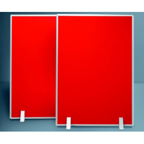 Silverlink akustikskillevæg 121,5x121,5 cm, rød