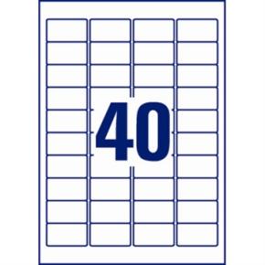 Avery L6140-20 stærke etiketter, 45,7 x 25,4mm