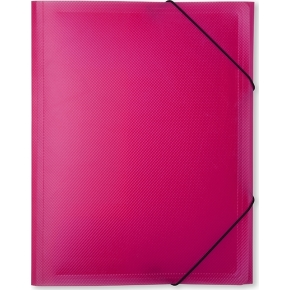 DocuSmart elastikmappe A4, PP, rød/rosa
