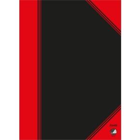 Kinanotes A5, linjeret, sort/rød