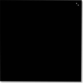 Glassboard magnetisk glastavle 45 x 45 cm, sort