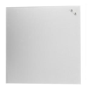 Glassboard magnetisk glastavle 45 x 45 cm, sølv