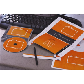Avery C32250-25 CD-etiketter, 151 x 118mm, 25stk