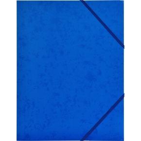 Budget elastikmappe, karton, blå