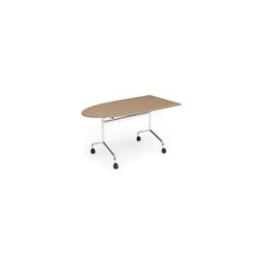 Space klapbord, 160x80 1/2 oval, bøg melamin