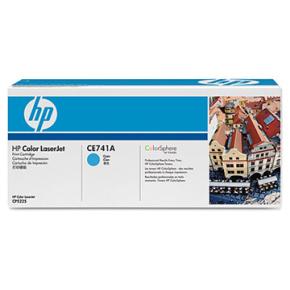 HP CE741A lasertoner, blå, 7300s