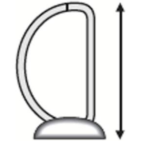 Esselte Indstiksringbind A4+, 4 DR, 50 mm, hvid