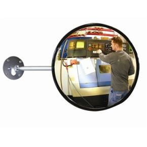 Industrispejl rundt ø60 cm, Akryl, inde