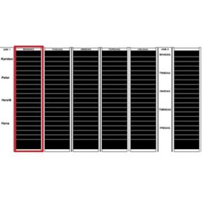 Plan-dex kortmodul A4 højformat 30 mm, 20 stk