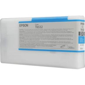 Epson nr.T6532/C13T653200 blækpatron, blå, 200ml