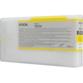 Epson nr.T6534/C13T653400 blækpatron, gul, 200ml