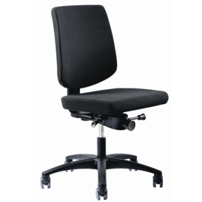 RBM 620 kontorstol sort stel Oxford grå