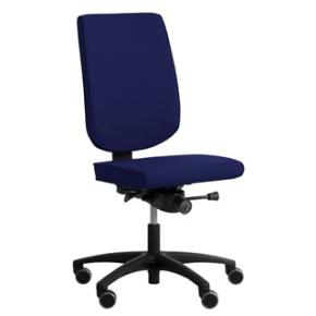 RBM 625 kontorstol sort stel Oxford blå