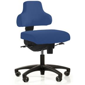 RBM 760 kontorstol sort stel Oxford blå