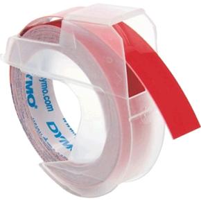 Dymo 3D prægetape 9mm, hvid på rød