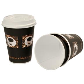 Kaffebæger pap, 10 cl, sort