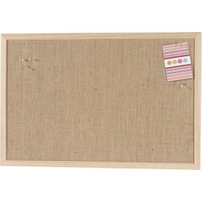 Pinboard opslagstavle, 40 x 60 cm, hessian