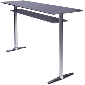 Switch højt konferencebord bøg fin. krom/kromstel