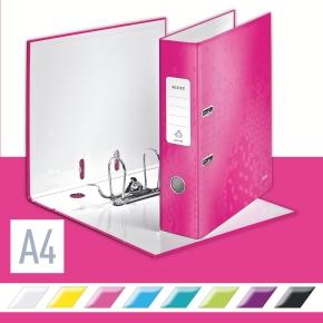 Leitz 180 WOW brevordner A4, 80mm, pink