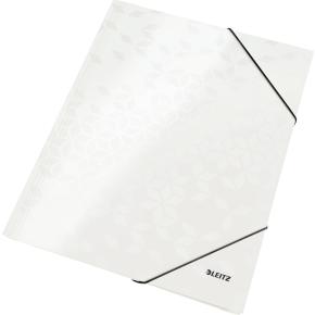Leitz WOW elastikmappe, hvid