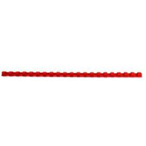 GBC Plast Spiralryg A4, 21 ringe, 12mm, rød