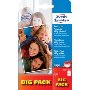 Avery inkjet fotopapir, glossy, 10x15/180g/100ark