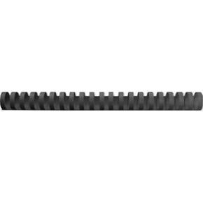 GBC Plast Spiralryg A4, 21 ringe, 22mm, sort