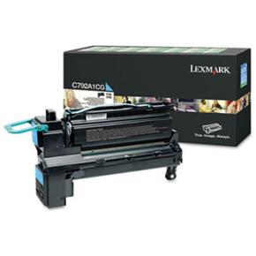 Lexmark C792A1CG lasertoner, blå, 6000s