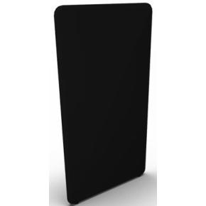 Abstracta softline skærmvæg sort B120xH150 cm