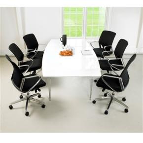 Thor konferencesæt hvidt bord m/ tillægsplade