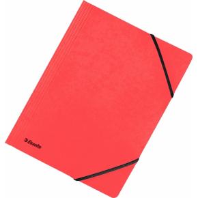Esselte elastikmappe A4, uden klap, rød