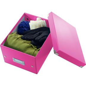 Leitz Click & Store opbevaringsboks small, pink
