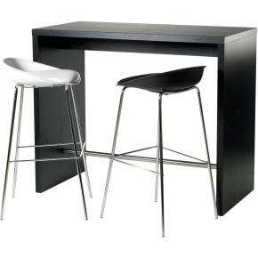 højt bord Detroit højt mødesæt bord + 2 sorte stole   køb til fast lav pris  højt bord
