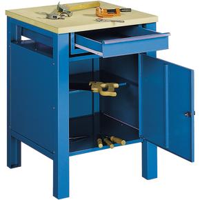 Basic arbejdsbord - 1 x skuffe/1 x underskab, Blå