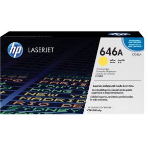 HP Toner 646A lasertoner gul 12500 s.