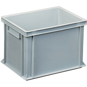 Lagerkasse 25 liter, Lukket håndtag, 40x30x27 cm