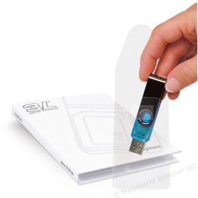 3L USB-lomme med 52,5x90mm, selvklæbende, 10 stk