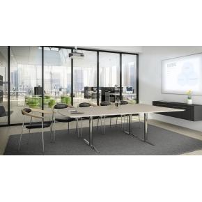 Switch medie konferencebord bøg laminat 214x625 cm