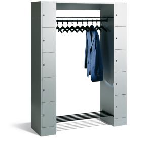 CP åben garderobe inkl. 10 opbevaringsbokse